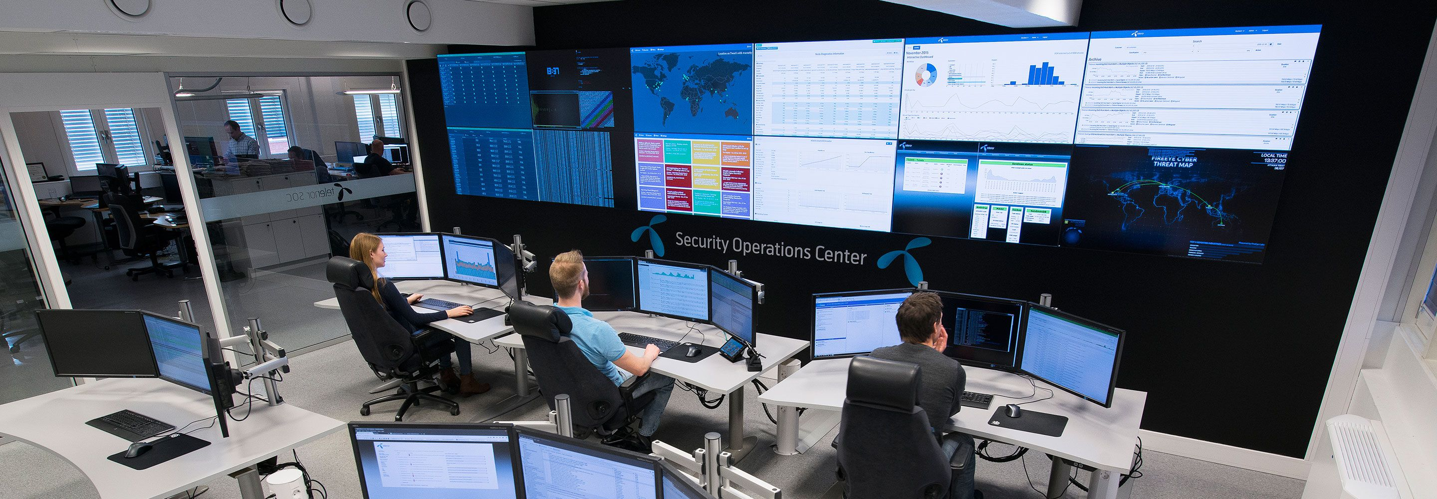 Fra Telenors Security Operations Centre