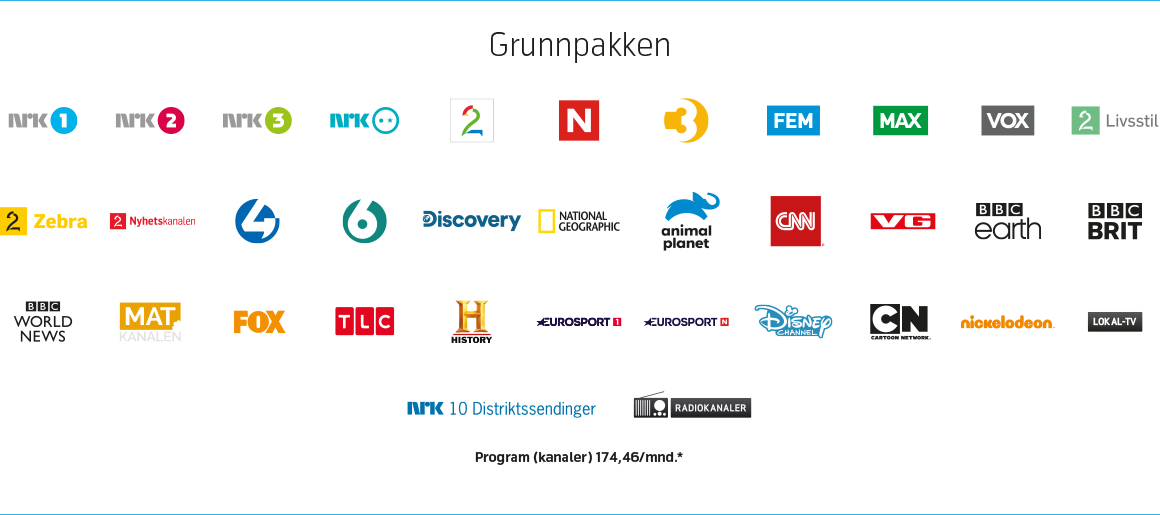 Grunnpakken intern tv