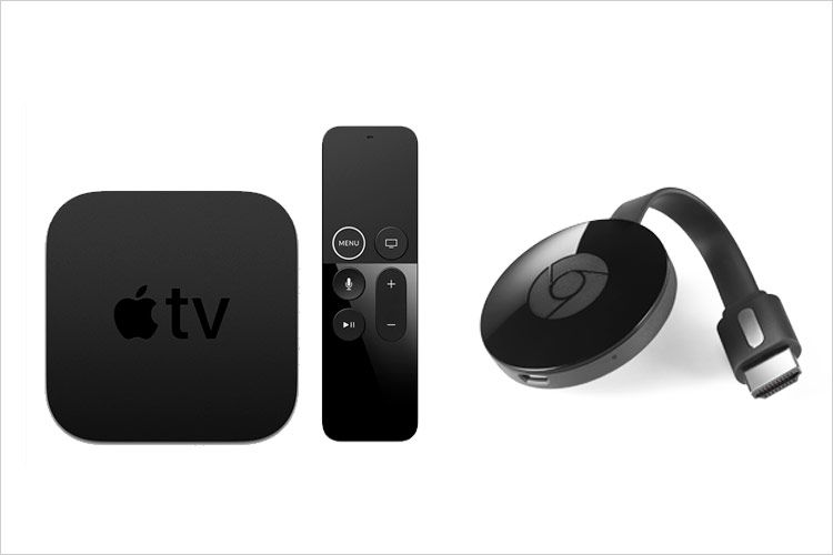 Apple TV og Chromecast