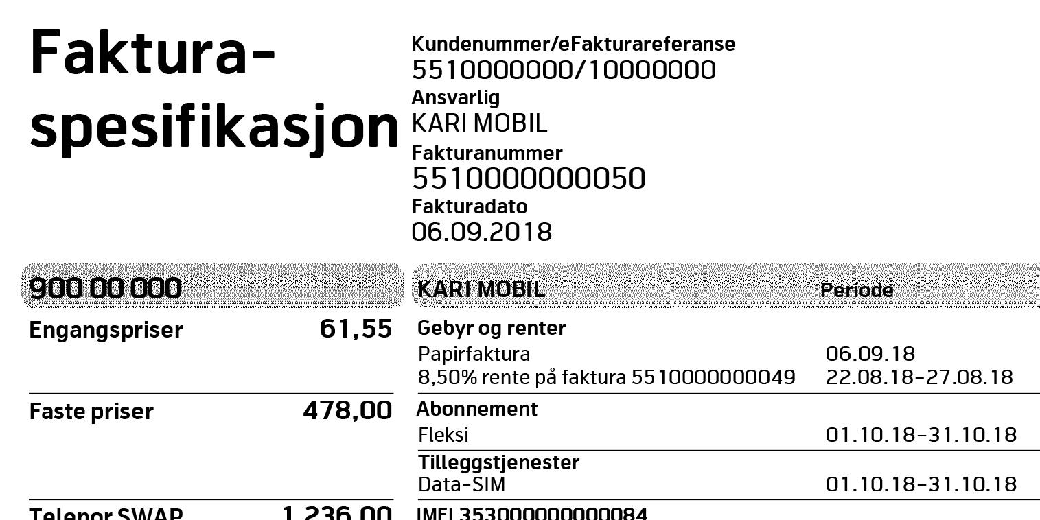 f8f4450e Forstå faktura - Telenor